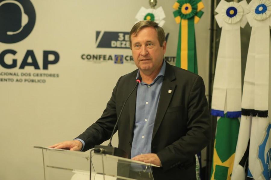 [noticia: crea-go-mostra-seu-padrao-de-atendimento-durante-o-1-engap-em-brasilia] Eng. Civ. Joel Krüger, presidente do Confea - FOTO_1_CONFEA.jpg