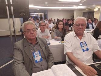 [noticia: confea-promove-seminario-para-as-comissoes-eleitorais-do-sistema] Ricardo, Márcio, Luiz Flávio e Yorrana durante o Seminário em Brasília - FOTO SEMINÁRIO 01.jpeg