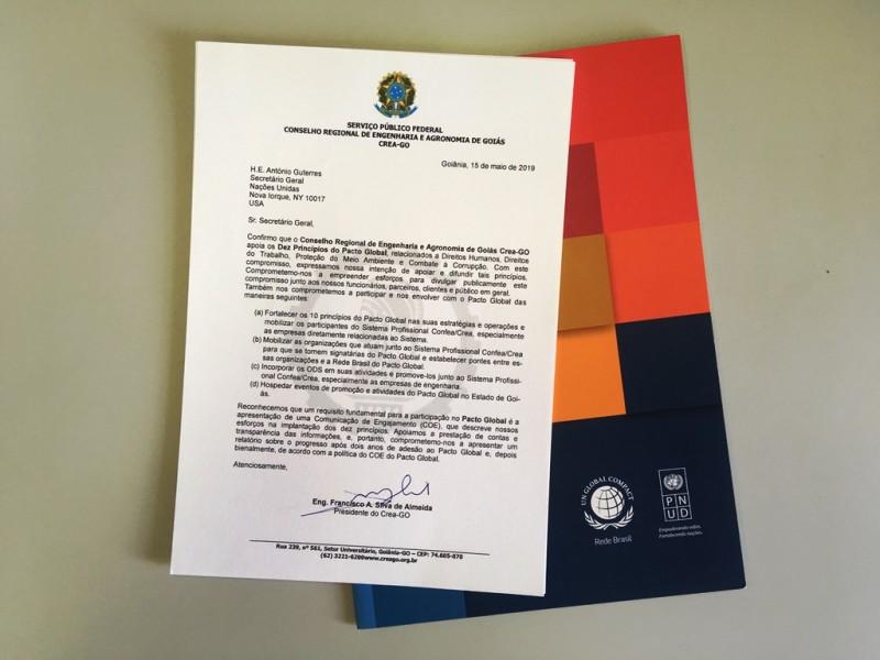 [noticia: crea-go-completa-um-ano-como-signatario-do-pacto-global] Francisco Almeida se comprometeu com o Pacto Global em carta enviada ao secretário-geral da ONU em 15 de maio de 2019 - CARTA - PACTO GLOBAL.jpg