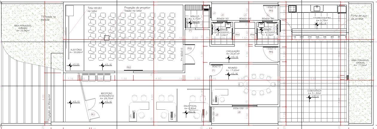 [noticia: novas-inspetorias-de-cristalina-e-luziania-serao-entregues-em-agosto] A planta baixa das novas inspetorias, que terão aproximadamente 220 m² de área construída - CASA DA ENGENHARIA PLANTA BAIXA.jpg