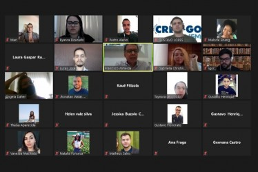 [noticia: crea-go-jovem-promove-discussoes-online-em-julho] O presidente Francisco Almeida participa de reunião virtual com os membros do Crea-GO Jovem - CREA JOVEM - ENCONTRO COM O PRESIDENTE.jpeg