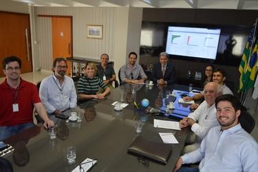 [noticia: cgu-alinha-parceria-com-o-crea-para-implantacao-do-time-brasil-em-goias] Em reunião, representantes do Crea-GO e da CGU – Regional de Goiás, alinham parceria para implantação do projeto piloto do TIME Brasil em Goiás - 01.jpg