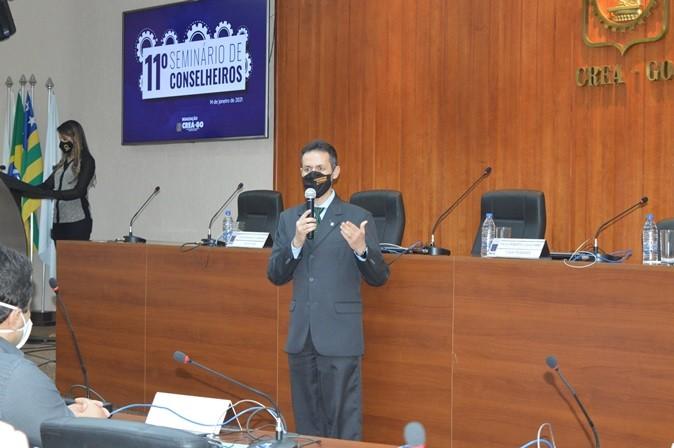 [noticia: 11-seminario-de-conselheiros-e-realizado-em-goiania] O presidente Lamartine Moreira deu as boas-vindas aos conselheiros que cumprirão mandato no triênio 2021/2023 - DSC_0017.JPG