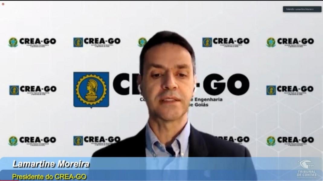[noticia: crea-go-marca-presenca-em-encontro-regional-do-tcm] O presidente Lamartine Moreira participa da abertura do Encontro Regional 2021 do TCMGO - ENCONTRO REGIONAL TCMGO 01.jpeg
