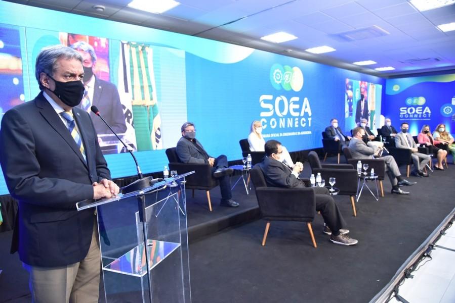 [noticia: soea-connect-inaugura-fase-digital-e-inclusiva] Francisco Almeida, diretor-presidente da Mútua, falou da satisfação em superar o desafio que era esse novo modelo de Soea - SOEA CONNECT - ENCERRAMENTO 04.JPG