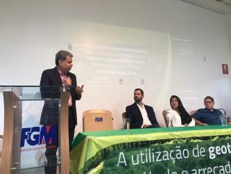 [noticia: presidente-do-crea-go-participa-de-palestra-sobre-itr-na-fgm] Francisco Almeida parabeniza a Federação pela realização do evento - FGM_1.jpeg